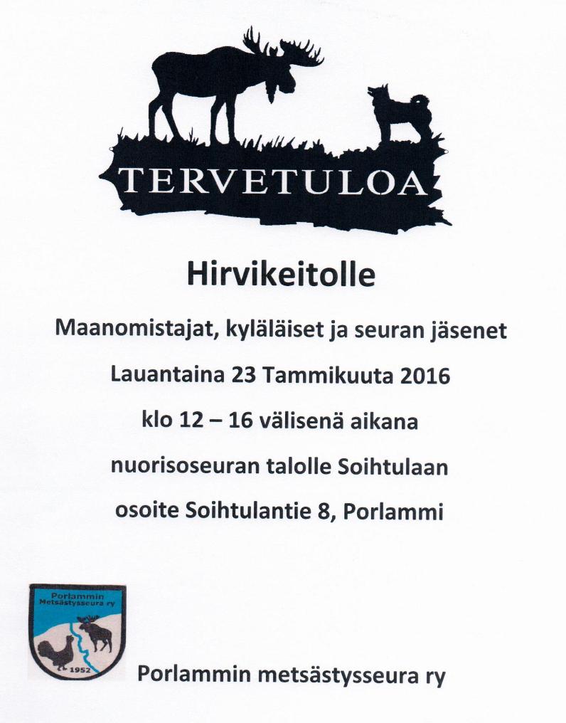 Hirvikeitolle 2016